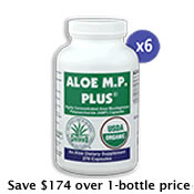 6 Bottles Aloe M.P. Plus