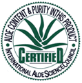 IASC Seal of Certification for Aloe M.P. Plus